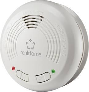 Vezeték nélküli füstjelző, hálózatba köthető, elemes, Renkforce RF-4538528 Renkforce
