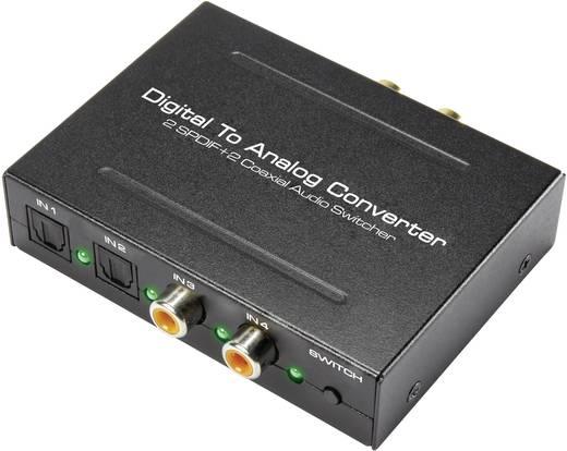 D/A konverter, digitális analóg átalakító, Toslink, koax, SPDIF bementeről 2RCA-ra átalakító SpeaKa Professional 1274943