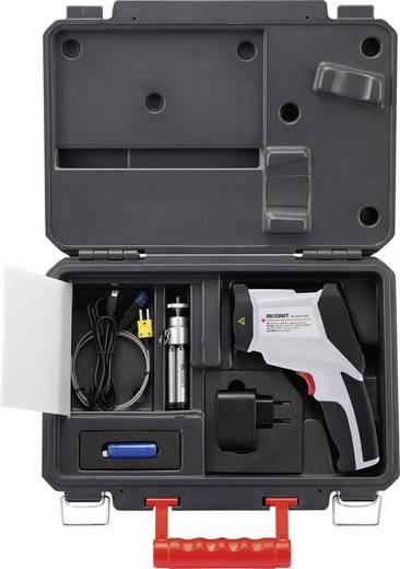 Infra hőmérő, távhőmérő, levegő páramérő beépített hőkamerával 50:1 optika -50-től +1600 °C-ig Voltcraft IR-1600 CAM