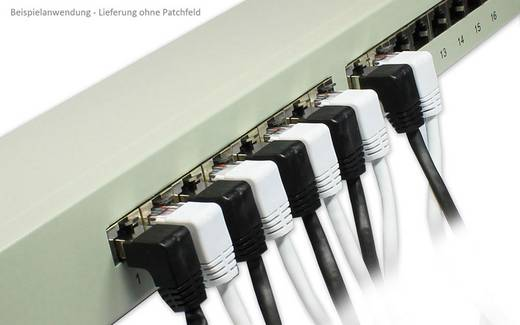 RJ45 Patch kábel, hálózati LAN kábel CAT 5e F/UTP 1 m Fekete Good Connections