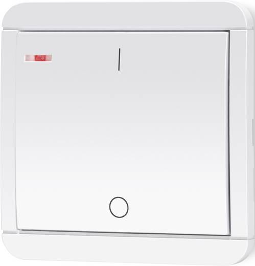 Vezeték nélküli, 1 csatornás fali kapcsoló, max. 150m, fehér, renkforce RS2W