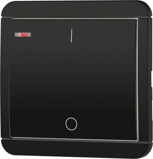 Vezeték nélküli, 1 csatornás fali kapcsoló, max. 150m, fekete, renkforce RS2W