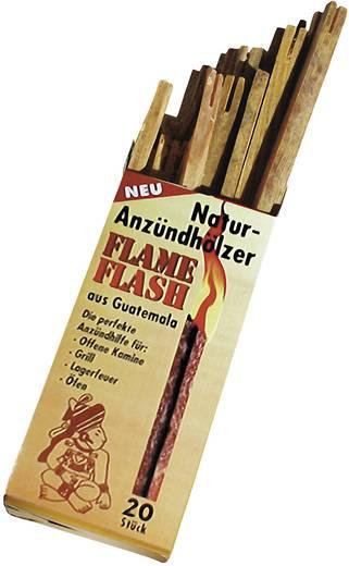 Natúr kemping tűzgyújtó fa, 20 részes készlet, Swissinno 1200115 Flame Flash