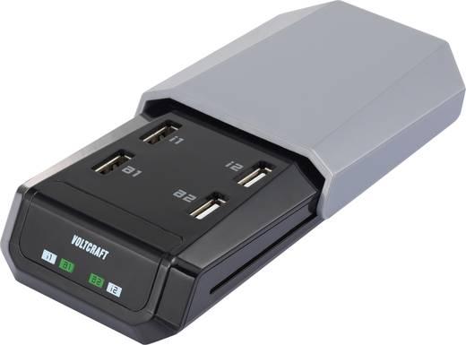 Hálózati USB töltő, dokkoló 4 USB aljzattal 100-240V/AC 5V/DC max. 5400mA VOLTCRAFT SPAS-2400/4