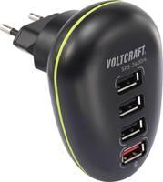 Hálózati USB töltő adapter 4 USB aljzattal 100-240V/AC 5V/DC max. 2500mA Voltcraft SPS-2400/4 (SPS-2400/4) VOLTCRAFT
