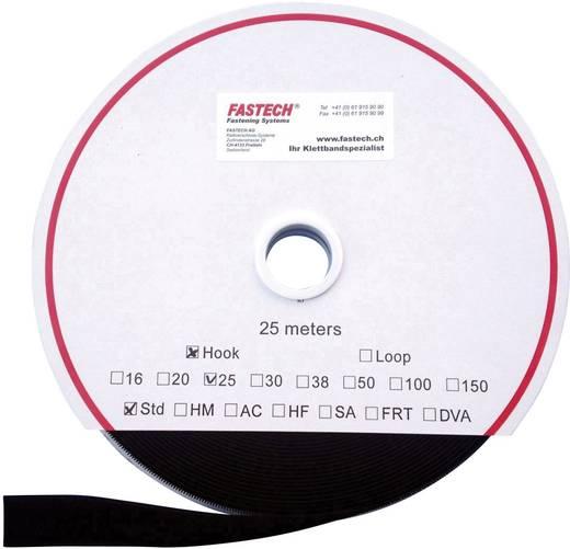 Tépőzár Felvarráshoz Horgos fél (H x Sz) 25000 mm x 25 mm Fekete Fastech T0102599990125 25 m