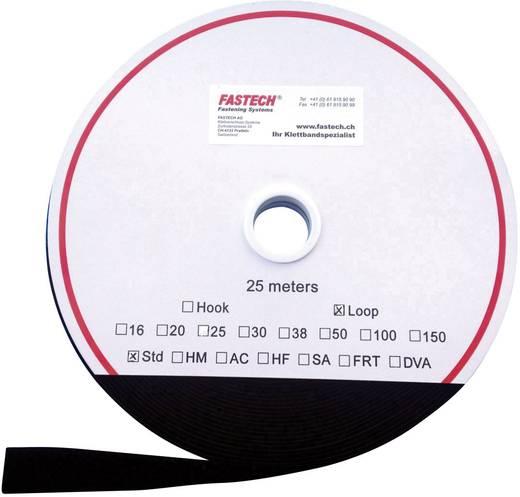 Tépőzár Felvarráshoz Bolyhos fél (H x Sz) 25000 mm x 30 mm Fekete Fastech T0203099990125 25 m