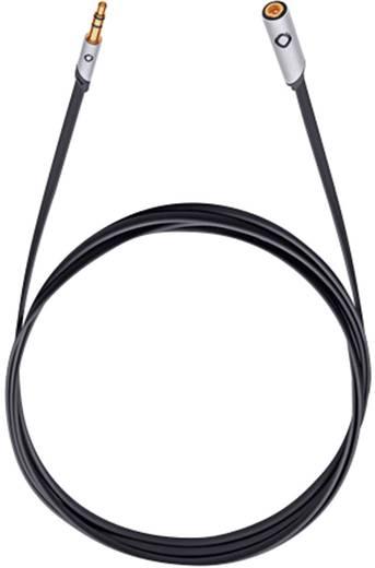 Jack hosszabbító kábel, 1 x Jack dugó, 3,5 mm-es - 1x Jack alj, 3,5 mm-es, 5 m, antracit, aranyozott, Oehlbach