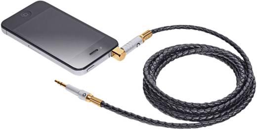 Jack audio kábel, 1 x Jack dugó, 3,5 mm-es - 1x Jack dugó, 3,5 mm-es 1,5 m fekete, Bőr/aranyozott Oehlbach