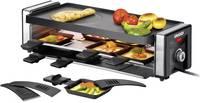 Raclette 8 serpenyővel, manuális hőmérséklet beállítással, fekete, ezüst, Unold Finesse Unold
