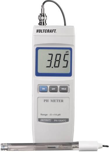 PH mérő folyadékokhoz, digitális ipari PH mérő 0 - 14 pH Voltcraft pH-100 ATC
