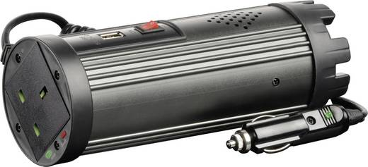 Szivargyújtós inverter, USB-vel Angol aljzattal 24 V/DC 21 - 30 V/DC 150W VOLTCRAFT MSW 150-24-UK