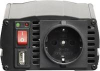 Inverter, feszültségátalakító, szivargyújtó csatlakozó, csavaros csipeszek 24V/230V, 300W, Voltcraft VOLTCRAFT