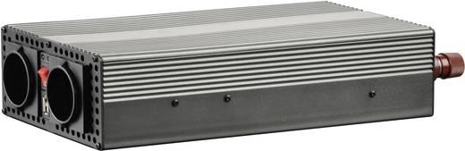 Szivargyújtós inverter, USB-vel Francia aljzattal 12 V/DC 10.5 - 15 V/DC 1200W VOLTCRAFT MSW 1200-12-F