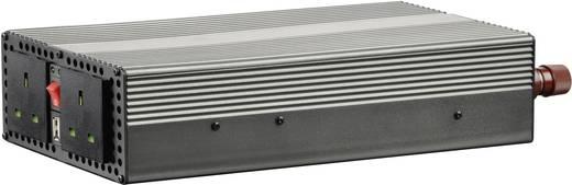 Szivargyújtós inverter, USB-vel Angol aljzattal 12 V/DC 10.5 - 15 V/DC 1200W VOLTCRAFT MSW 1200-12-UK