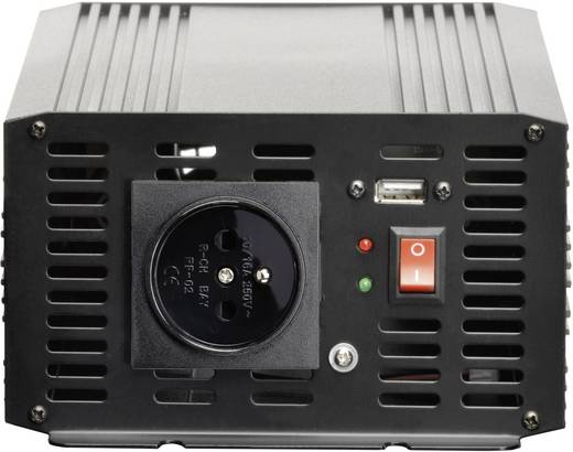 Szivargyújtós inverter, USB-vel Francia aljzattal 24 V/DC 21 - 30 V/DC 2000W VOLTCRAFT MSW 2000-24-F