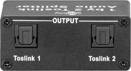 Optikai Toslink, SPDIF 2-es elosztó, splitter, 1be/2kimenet Goobay 67794