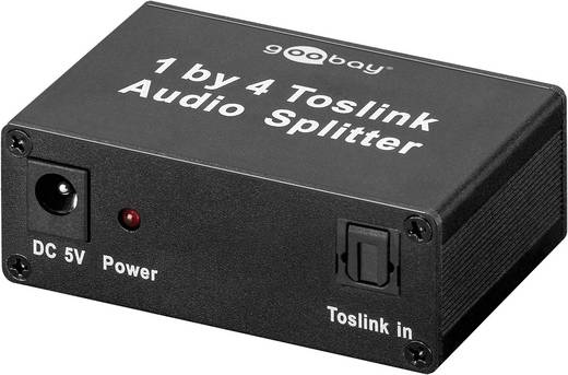 Optikai, Toslink, SPDIF kábel elosztó, 4-es splitter Goobay 67795