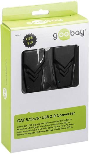 USB-s RJ45 CAT 5/5a/6 Extender, továbbító max.100m Goobay 69074