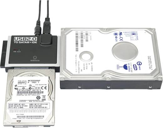 USB 2.0 - IDE+SATA konverter, Renkforce