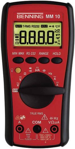 Digitális multiméter, True RMS mérőműszer, optikai - USB kimenettel 10A AC/DC Benning MM 10