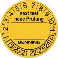 Ellenőrző címkék készülék bevizsgálókhoz, 300 db, 30 mm, Benning 756212 Benning