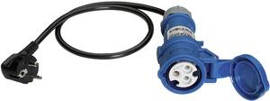 Mérőadapter, mérőkábel 1 fázisú fogyasztókhoz (földelt dugó - CEE aljzat) Benning 16 A CEE 044143 Benning