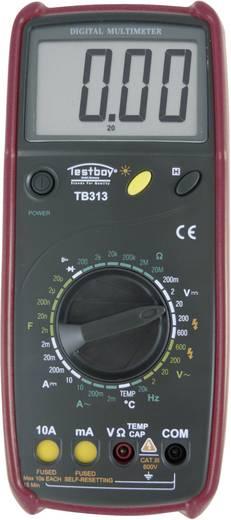 Digitális multiméter, mérőműszer, hőmérséklet méréssel 600V AC/DC 10A AC/DC Testboy TB 313
