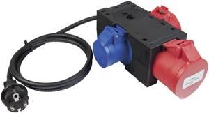 Mérőadapter, mérőkábel 1 fázisú fogyasztókhoz (földelt dugó - 3db CEE aljzat) 32 A Benning 044147 (044147) Benning