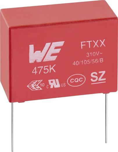 Zavarszűrő kondenzátor, X2, radiális 100 nF 310 V/AC 10 % 15 mm, 18 x 6 x 12 mm Würth Elektronik 890334025017CS