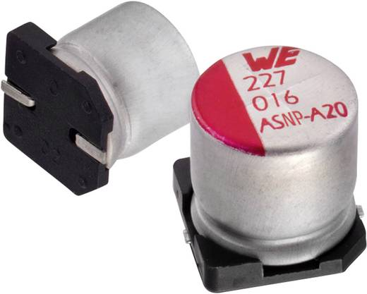 SMD elektrolit kondenzátor 220 µF 25 V 20 % (Ø x Ma) 8 mm x 10.5 mm Würth Elektronik WCAP-ASLL 865060453007 1 db