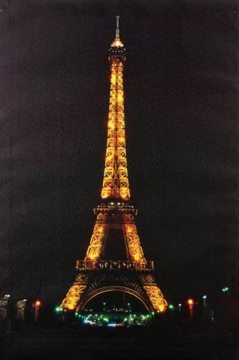 LED-es dekorációs falikép, Eiffel torony Heitronic 34013