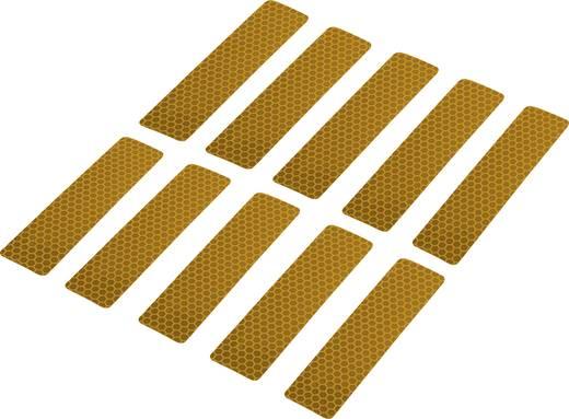 Fényvisszaverő ragasztószalag, sárga, 100 x 25 mm, 10 db