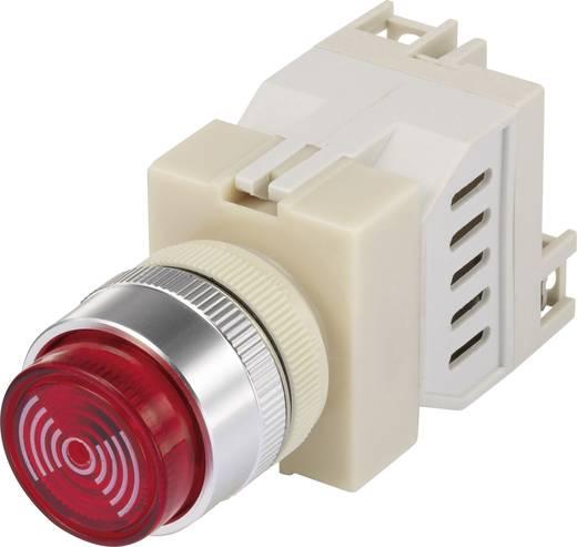 Beépíthető miniatűr zümmer, 75 dB 12 V/AC/DC, fekete, piros sapkával
