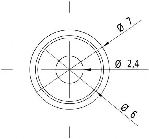 Pont lézermodul, piros, 1 mW Picotronic DG650-1-3(7x14)