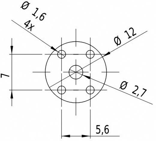Vonal lézermodul, zöld 5 mW Laserfuchs LFL532-5-3(12x60)