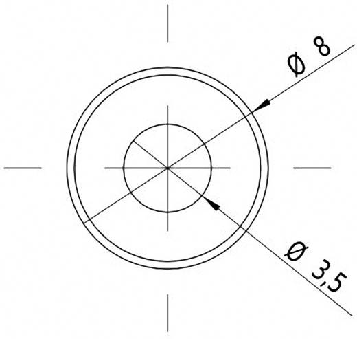 Pont lézermodul, piros, 1 mW Picotronic DC650-1-3(8x25)-C500