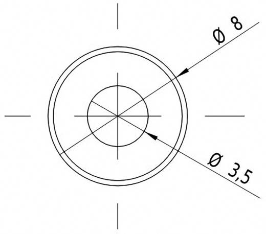 Pont lézermodul, piros, 0.4 mW Picotronic DC650-0.4-3(8x25)