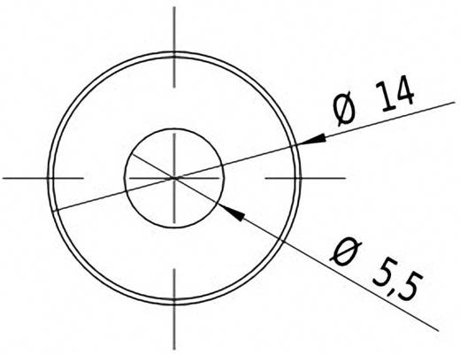 Vonal lézermodul, piros, 3 mW Picotronic LD635-3-24(14x45)45DEG-F100