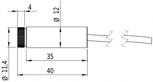 Pont lézermodul, piros, 1 mW Picotronic DG670-1-12-F(12x40)-C300