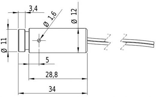 Pont lézermodul, piros, 1 mW Picotronic DD635-1-6(12x34)