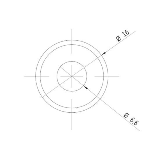 Keresztvonal lézermodul, piros, 5 mW Picotronic CB650-5-3(16x45)