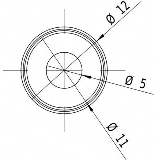 Pont lézermodul, piros, 1 mW Picotronic DD635-1-5(12x34)