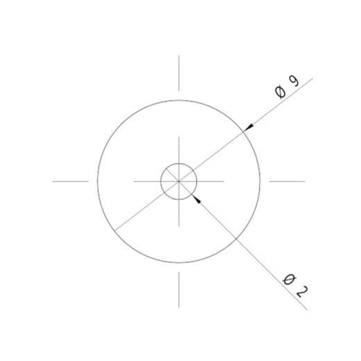 Pont lézermodul, piros, 1 mW Picotronic DI635-1-5(9x21)-F100-AP