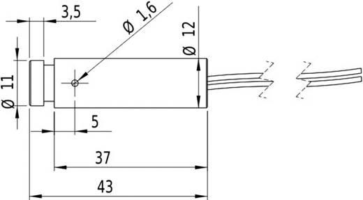 Pont lézermodul, piros, 1 mW Picotronic DDI635-1-24(12x45)-C3000