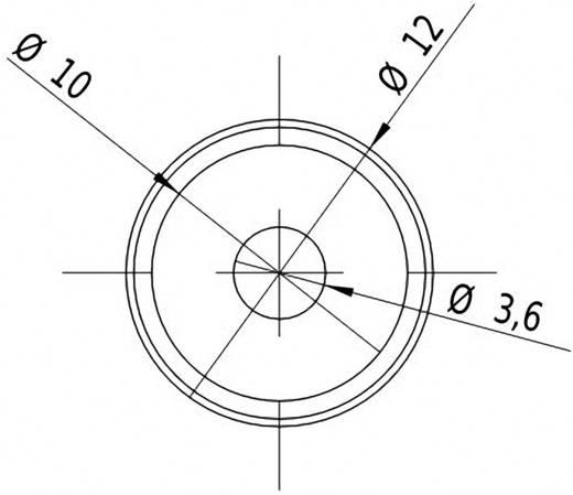 Pont lézermodul, piros, 1 mW Picotronic DD635-1-3(12x25)