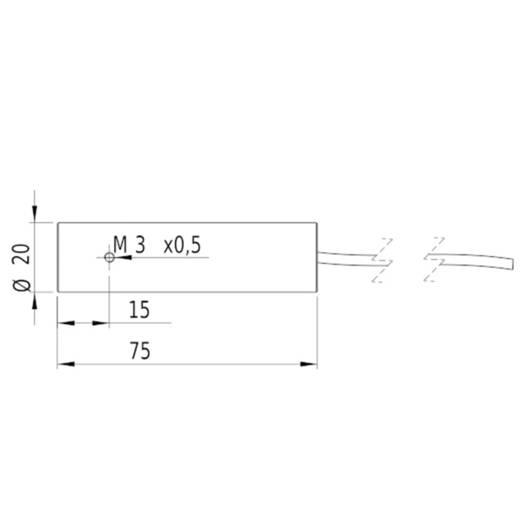 Vonal lézermodul, piros, 5 mW Picotronic LE650-5-3(20x75)30-F500-C2000