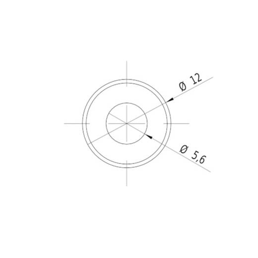 Vonal lézermodul, piros, 5 mW Picotronic LE650-5-3(12x32)30-F500-C1500