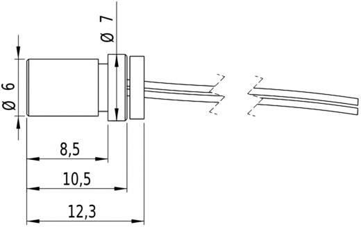 Pont lézermodul, piros, 1 mW Picotronic DG650-1-5(7x14)