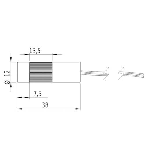 Lézermodul DOE, piros, 1 mW Picotronic DD635-1-3(12x38)-DOE-C1500